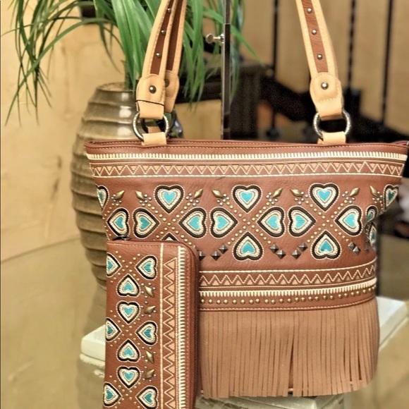Montana west American bling tote bag +wallet set 4927ee7b948c8